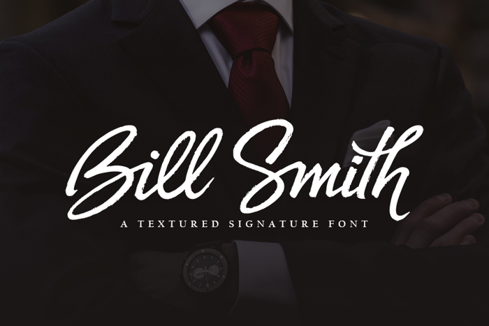 Bill Smith Font poster