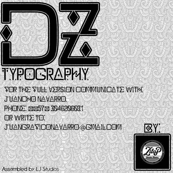 DZ Typography - Zilap Font poster