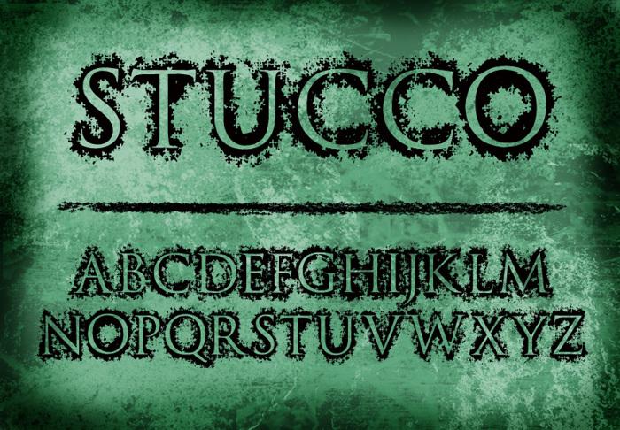 Stucco Font poster