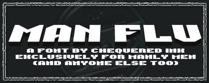 Man Flu Font poster