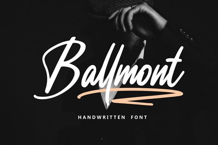 Ballmont Font poster