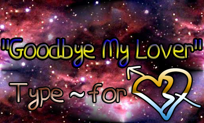 Goodbye My Lover Font poster