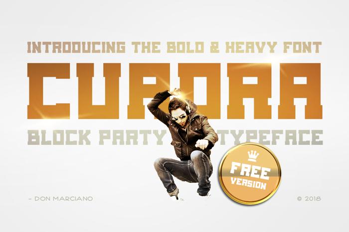 Cuadra Font poster