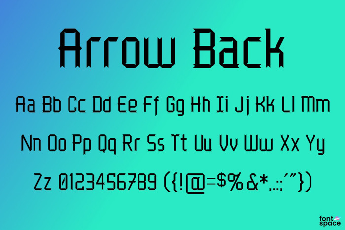 Arrow Back Font