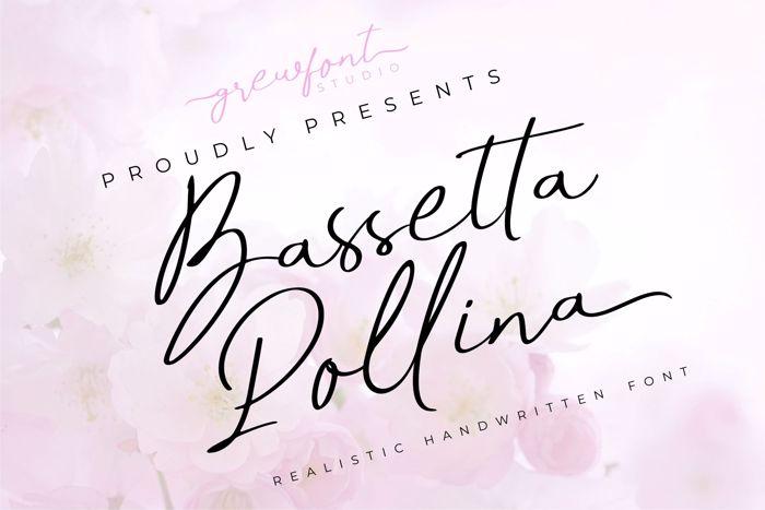 Bassetta Pollina Font poster