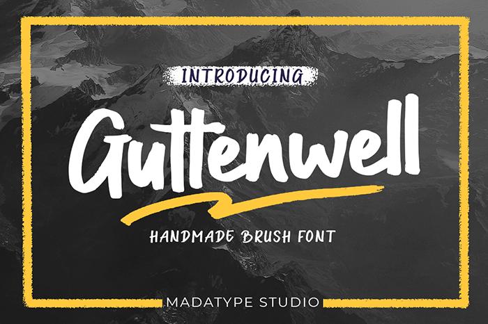 Guttenwell Font poster