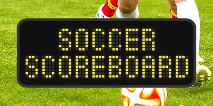 Soccer Scoreboard Font poster