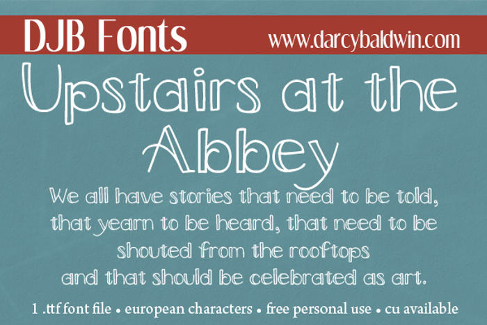 DJB Upstairs at the Abbey Font poster