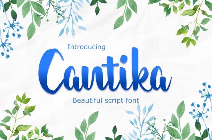 cantika Font poster