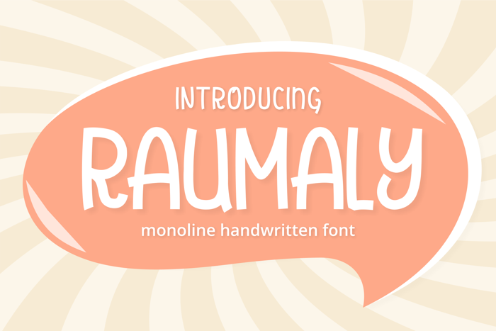 Raumaly Font poster