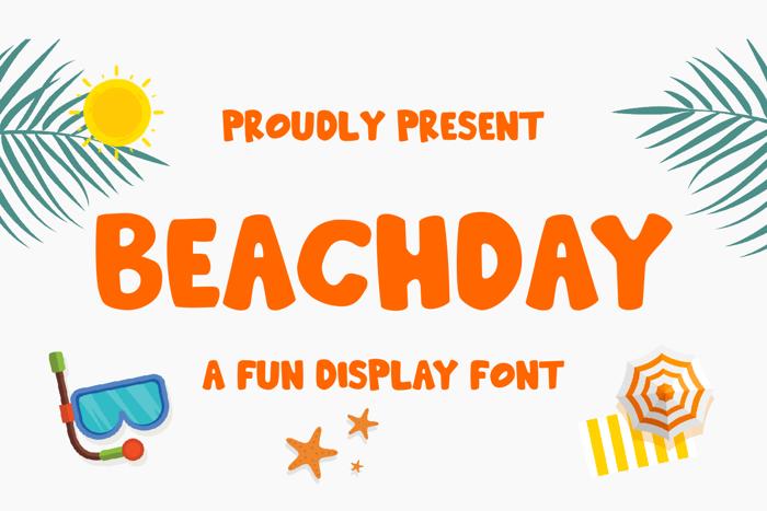 Beachday Font poster