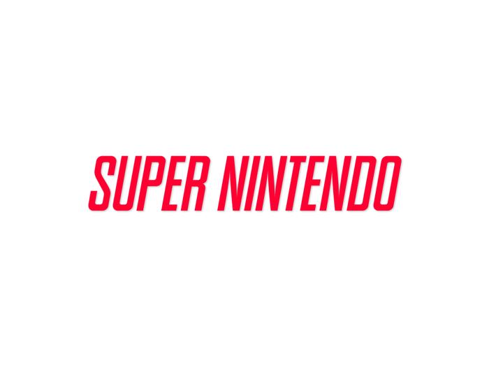 SNES Font poster