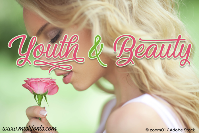 Youth and Beauty Font poster