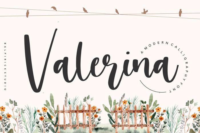 valerina Font poster