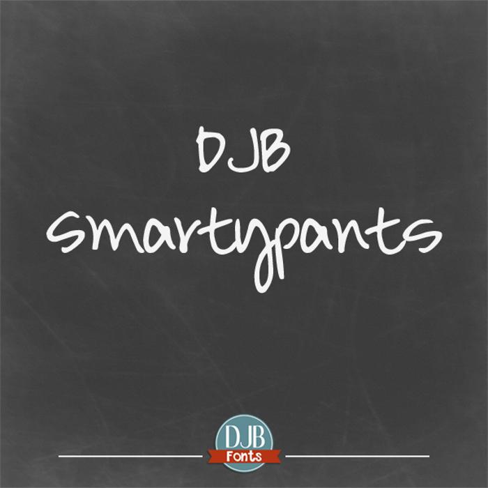 DJB Smarty Pants Font poster