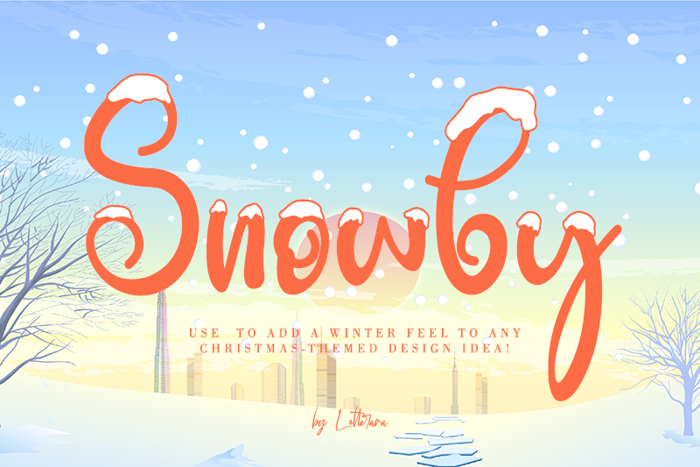 Snowby Font poster
