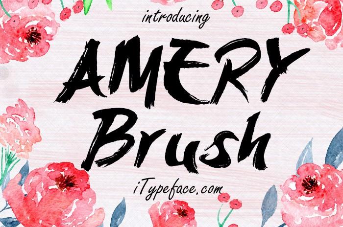 Amery Brush Font poster