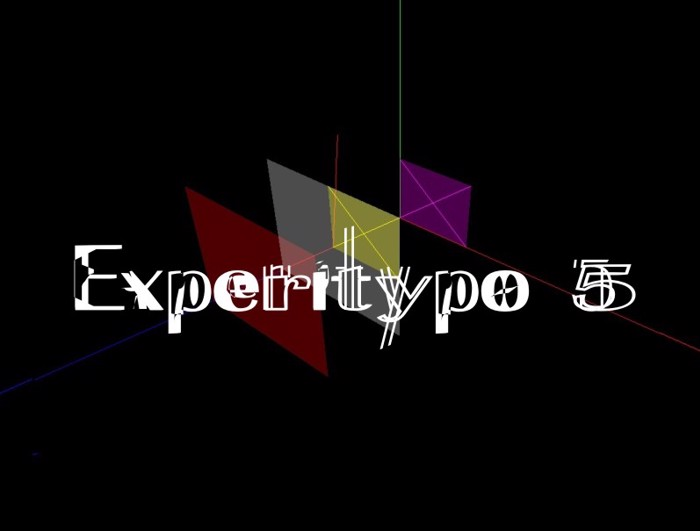 ExperiTypo5 Font poster
