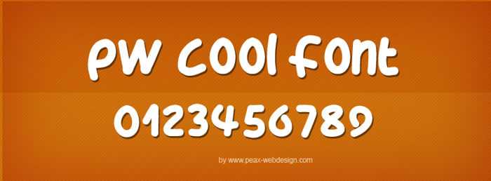 PWCoolFont Font poster
