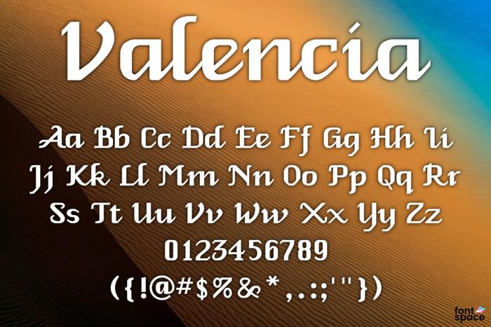 Valencia Font poster