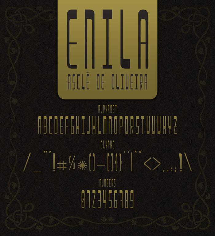 Enila Font poster