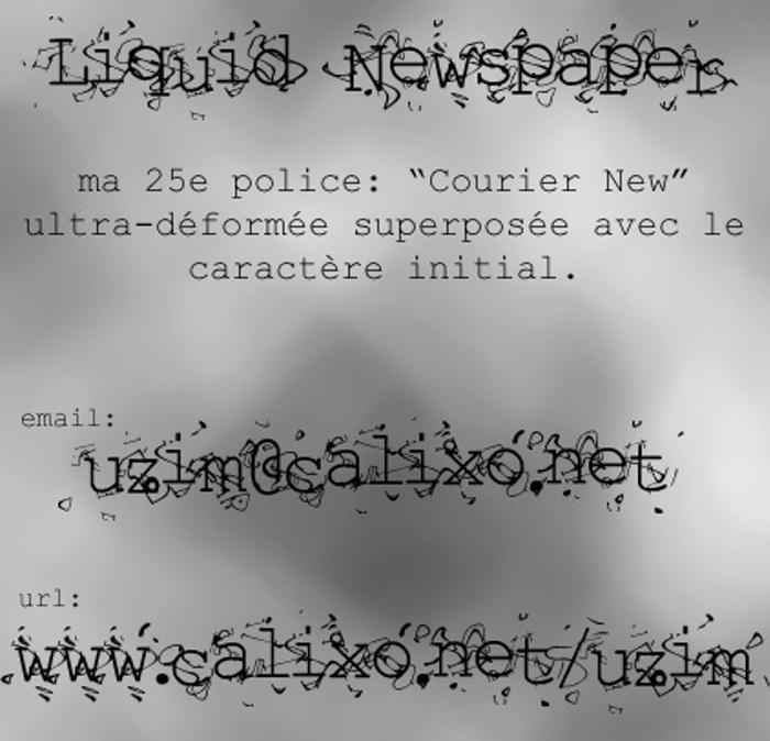Liquid Newspaper Font poster
