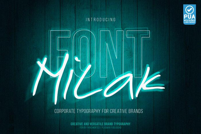 Milak Font poster