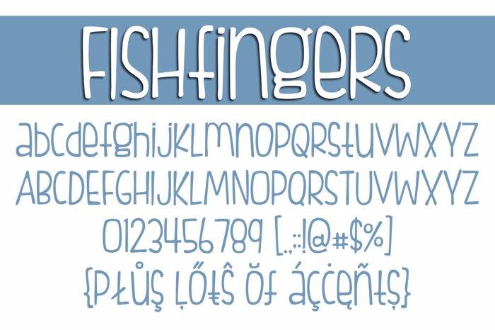 FISHfingers Font poster