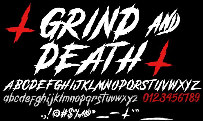 GrindAndDeath_Demo Font poster