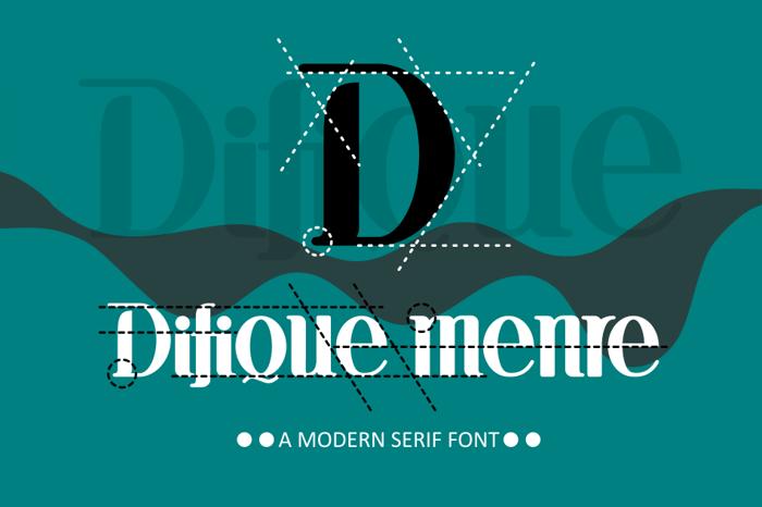 Difique menre Font poster