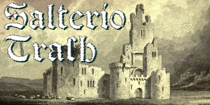 Salterio Trash Font poster
