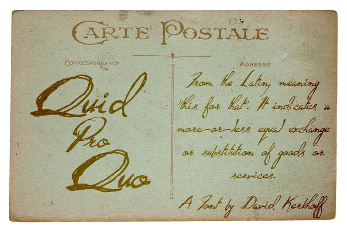 Quid Pro Quo Font poster