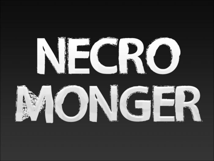 Necro Monger Font poster