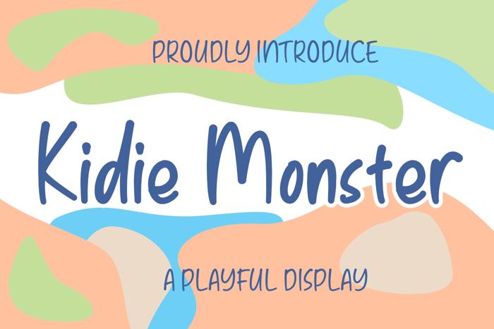 Kidie Monster Font poster