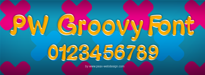 PWGroovy Font poster