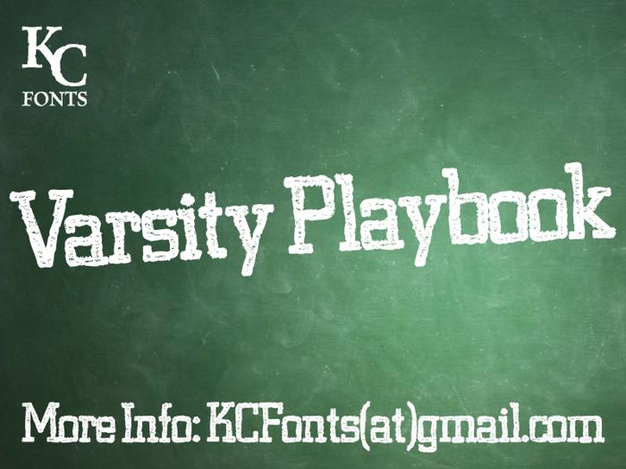 Varsity Playbook Font poster
