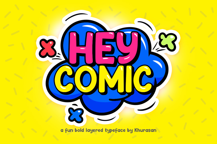 Hey Comic Font poster