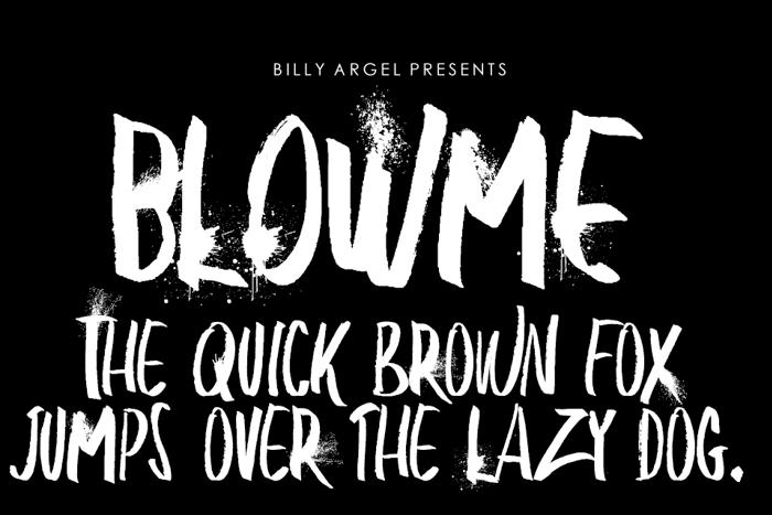 BLOW ME Font poster