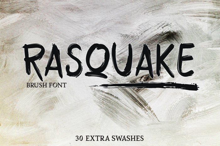 RASQUAKE demo Font poster