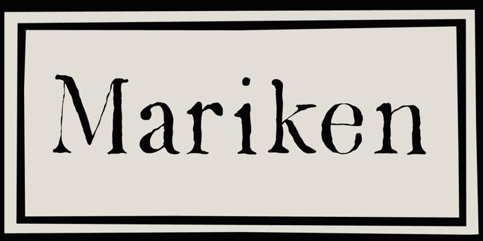 DK Mariken Font poster