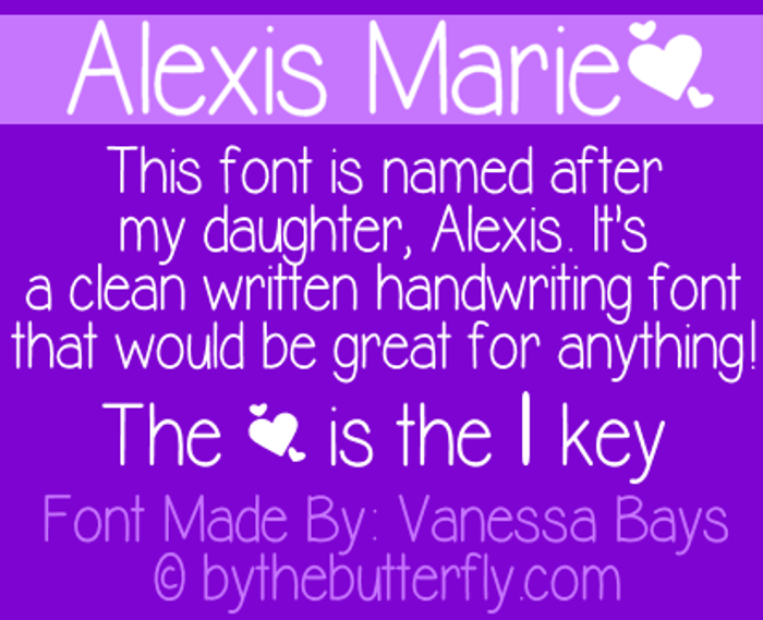 Alexis Marie Font poster