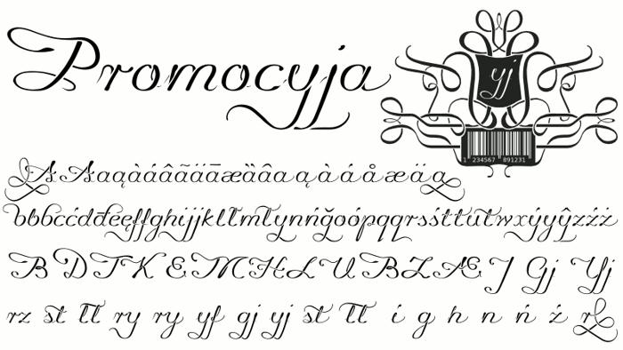 Promocyja Font poster