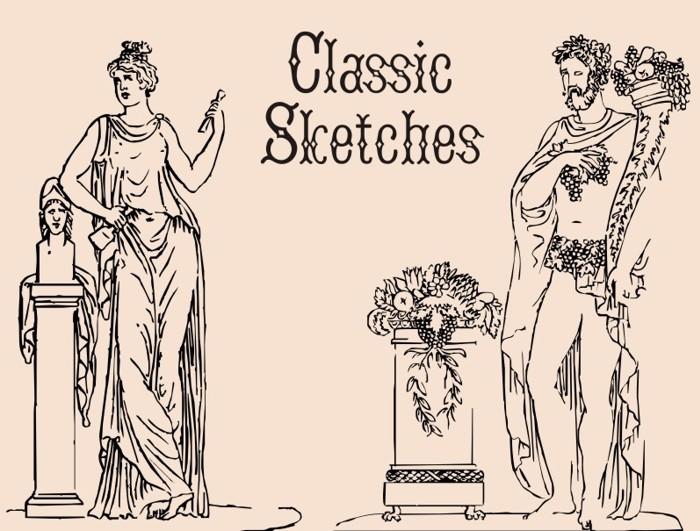 ClassicSketches Font poster