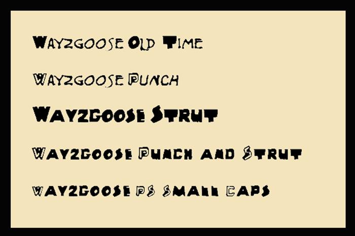 Wayzgoose Block Font poster