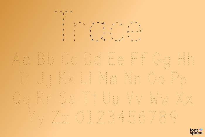 Trace Font poster