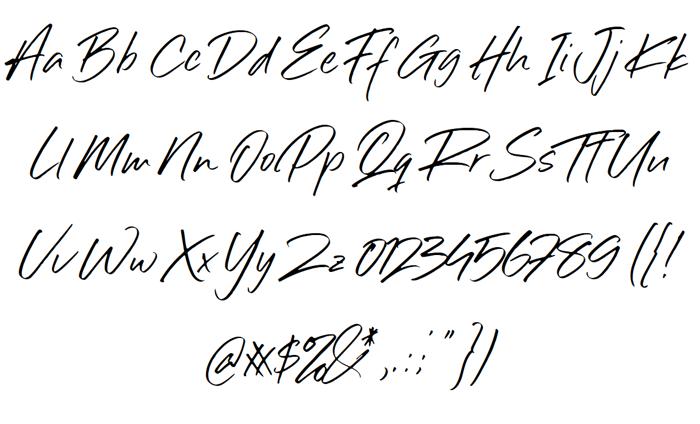 Sillii Willinn Font poster