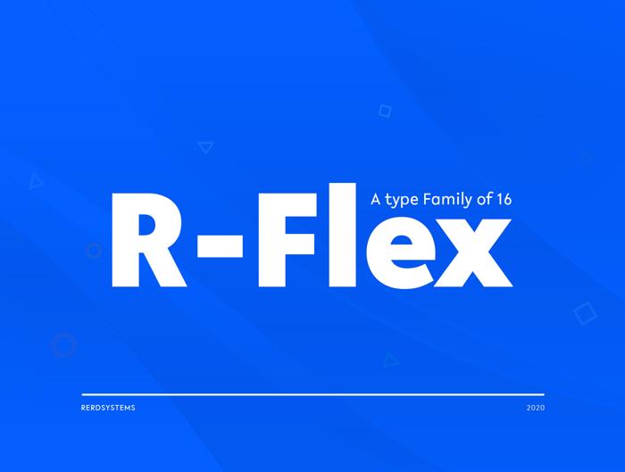 R-Flex Font poster