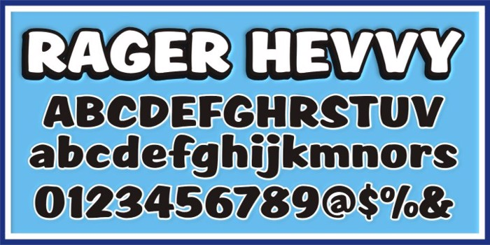 SCRIPT1 Rager Hevvy Font poster