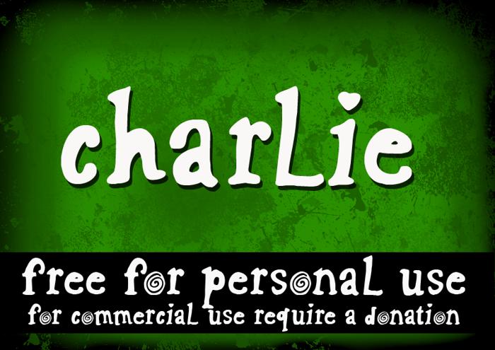 CF Charlie Font poster