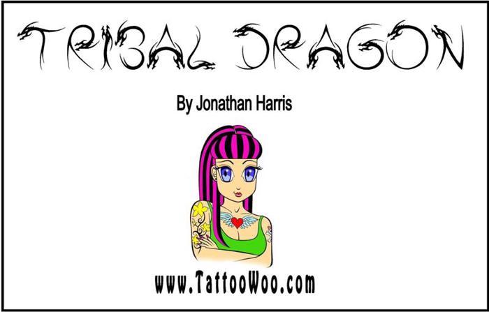 Tribal Dragon Font poster